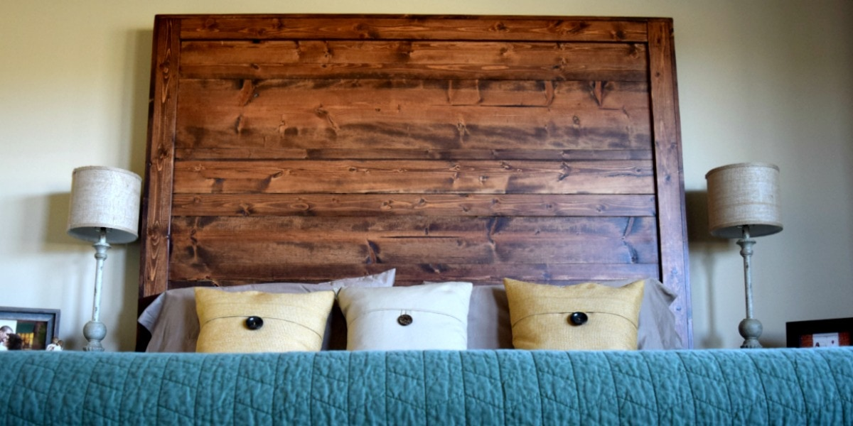 How We Created Our Own Rustic Headboard by This Little Home of Mine