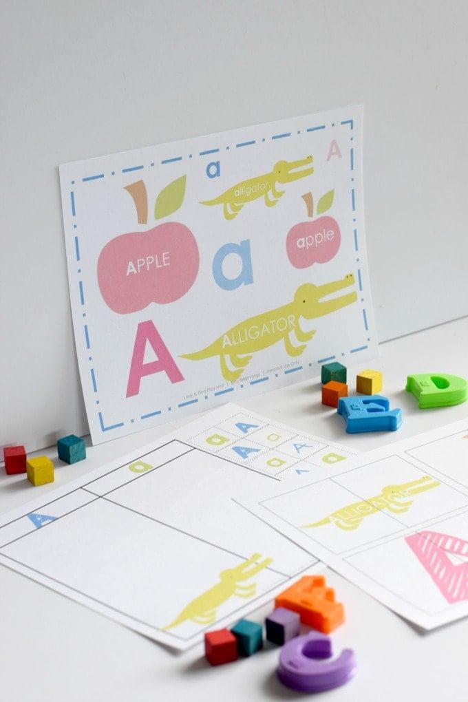 Three Year Old Homeschool Preschool: Alphabet Activities from Bitty Beginnings (Letter a Week Alphabet Activities) by This Little Home of Mine