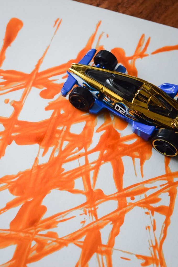 Painting with Hot Wheels Cars