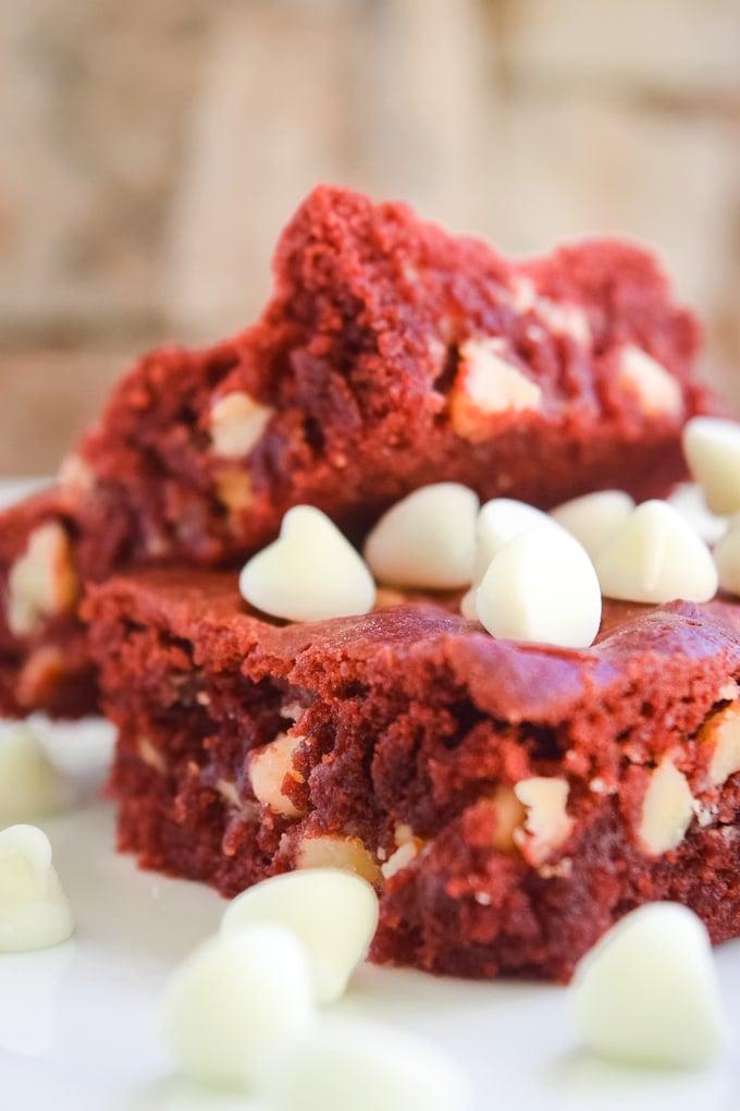 Red Velvet Brownie Bars