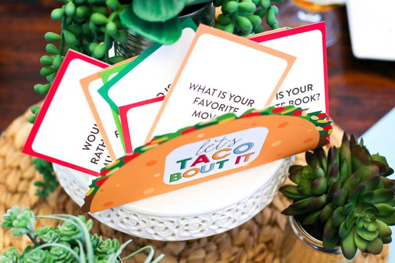 Taco Party Bar by This Little Home of Mine - Featuring Let's Taco Bout It Conversation Cards from The Littles and Me