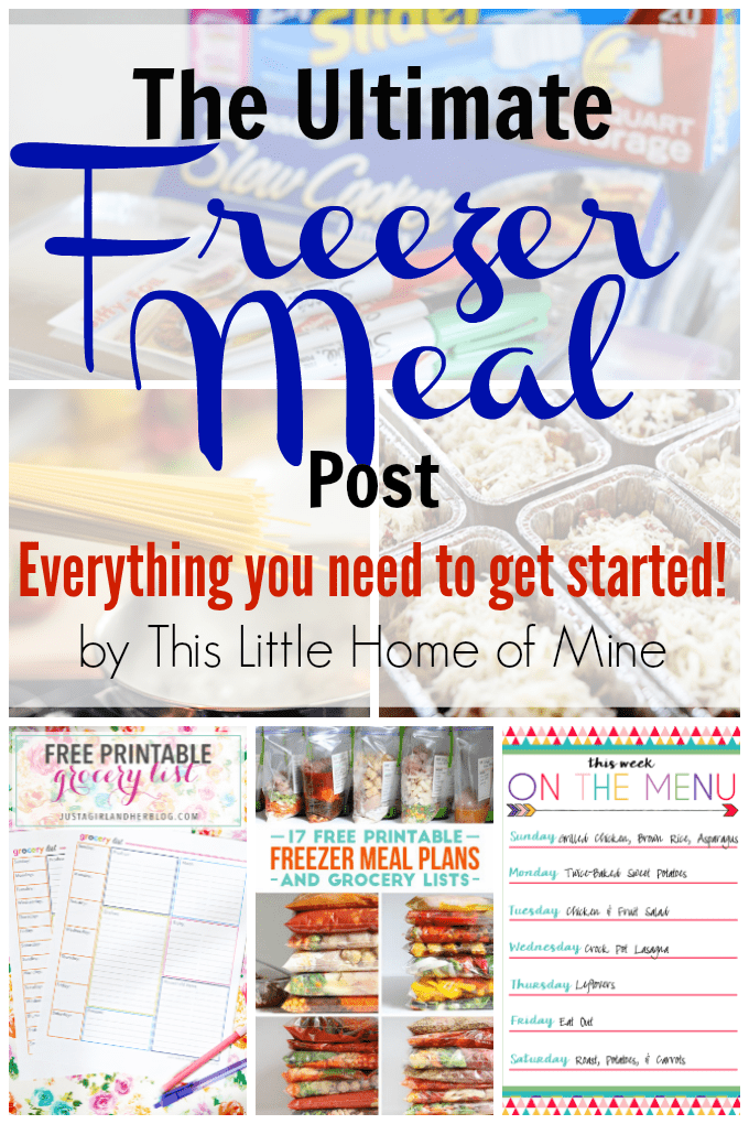 The Ultimate Freezer Meal Post