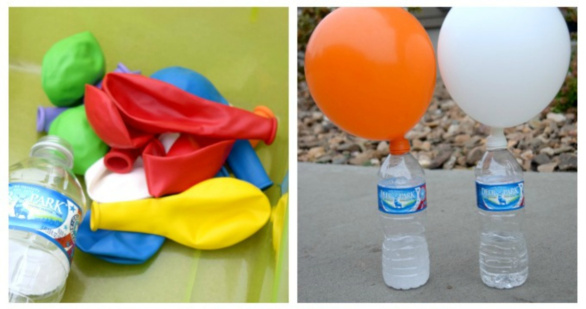 Expanding Balloon Science Experiment by This Little Home of Mine