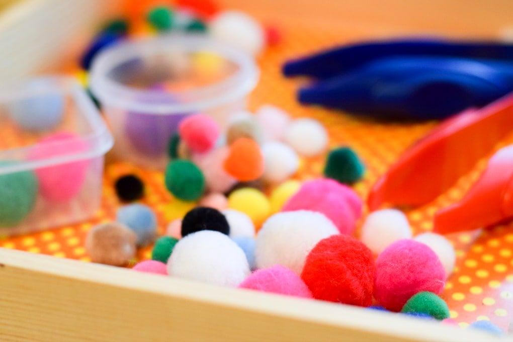 Pom Pom Sorting Activities