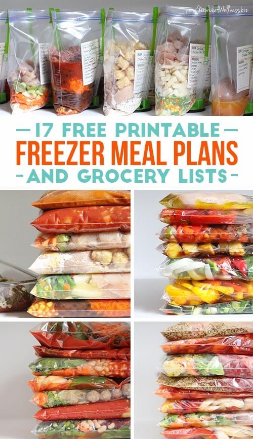 Freezer Meal Printables and Grocery Lists by New Leaf Wellness