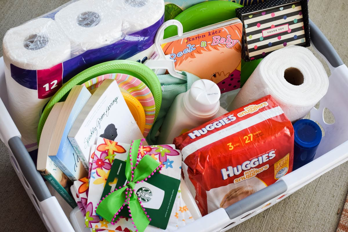Create a Survival Basket for a New Mommy by This Little Home of Mine