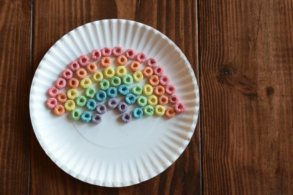 Create a Rainbow: Rainbow Art Activity by This Little Home of Mine