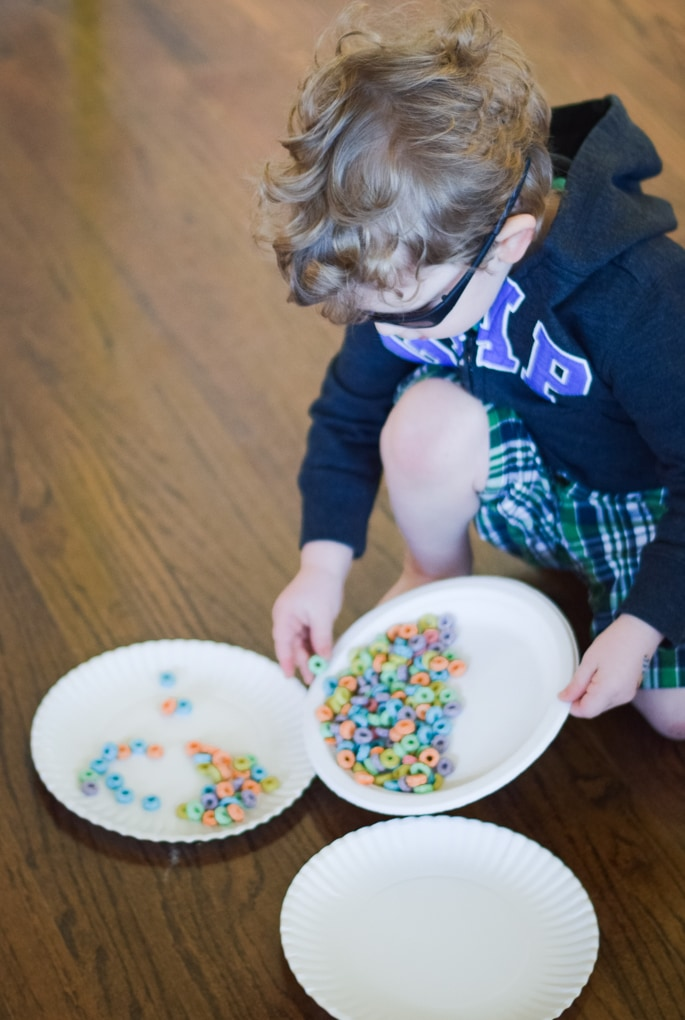 Create a Rainbow Rainbow Art Activity - Eating a Bowl of Froot Loops