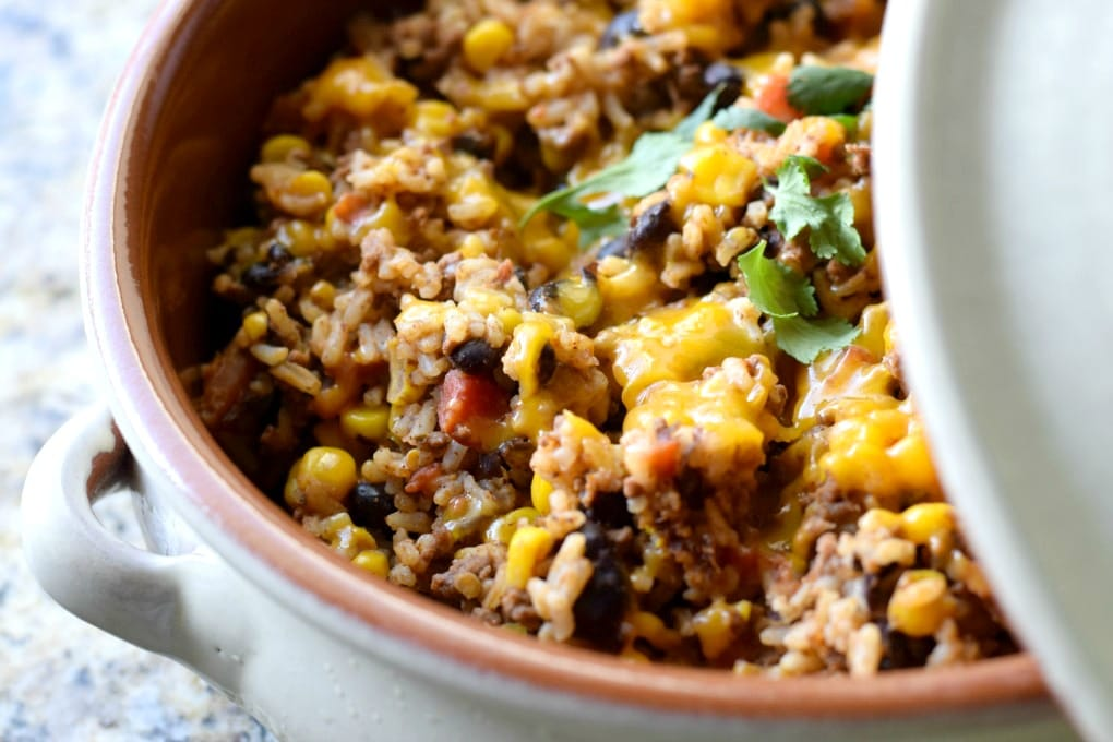 One Skillet Mexican Rice by This Little Home of Mine