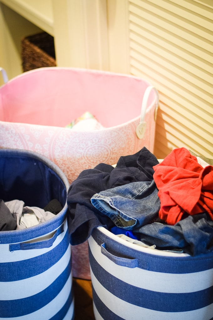 Our Family's Laundry Routine - Each family member has their own laundry basket.