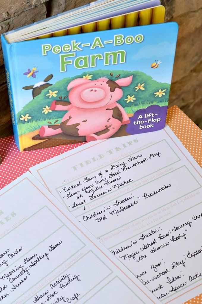 Preschool Unit Prep List: Free Printable by This Little Home of Mine