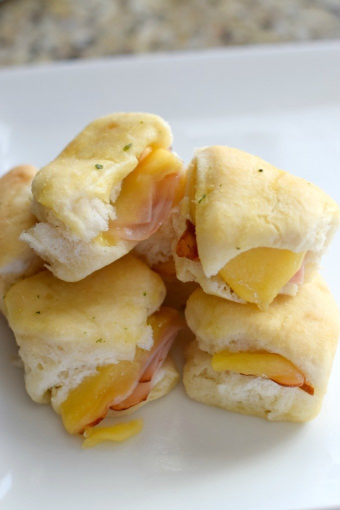 Ham and Gouda Cheese on Yeast Rolls by This Little Home of Mine