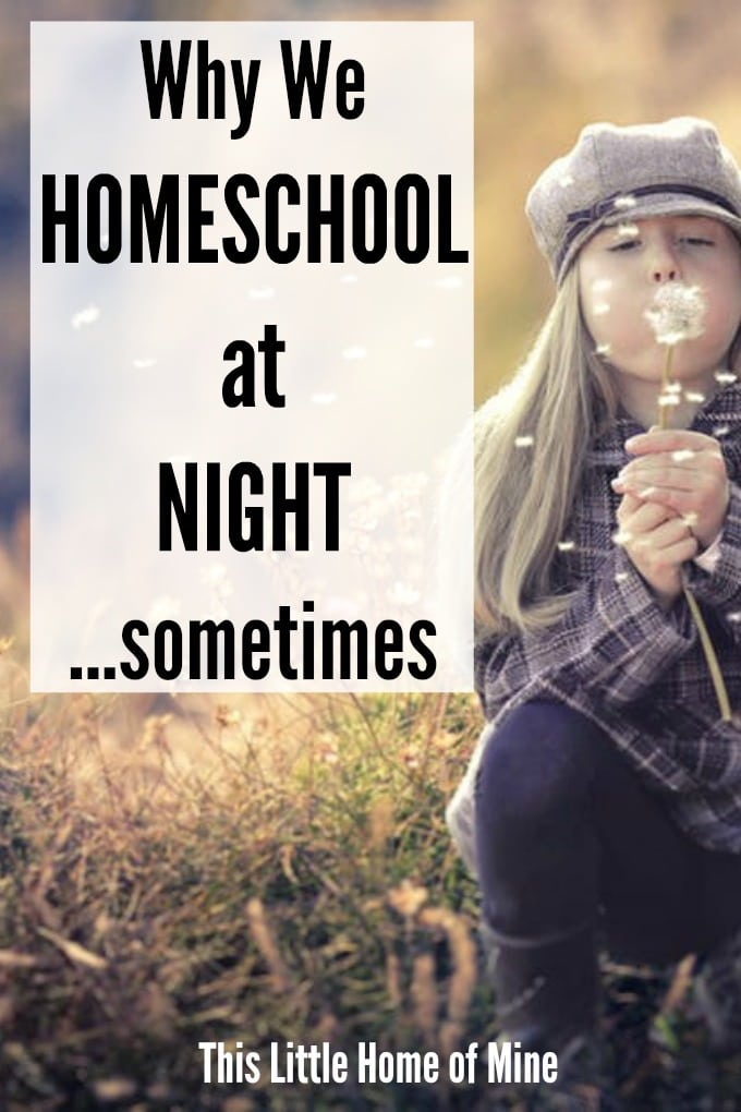 Why We Homeschool at Night…Sometimes
