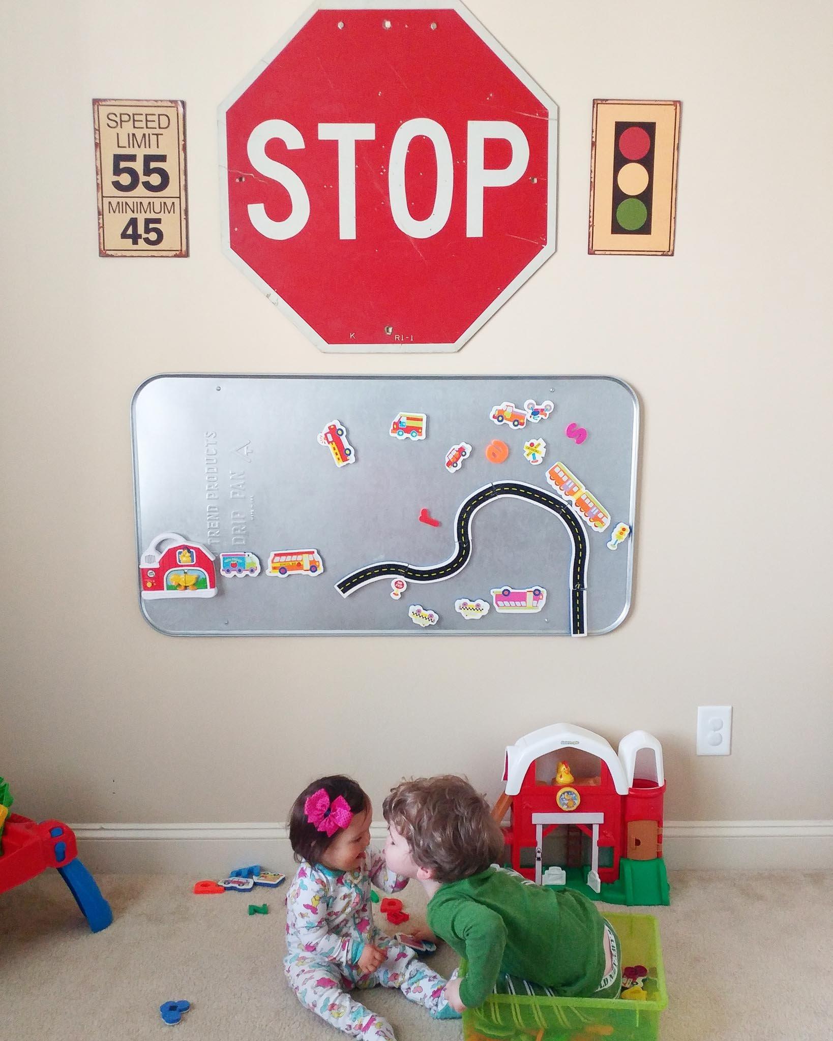 DIY Playroom Magnet Board
