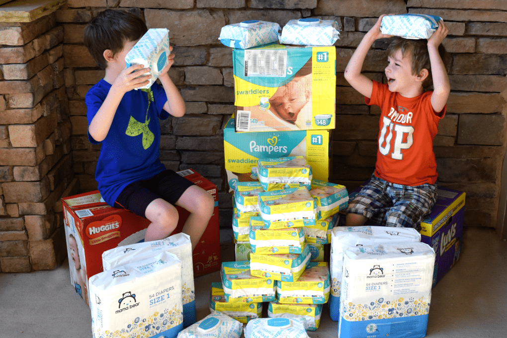 Acts of Service for Kids - Diaper Collection for Pregnancy Center by This Little Home of Mine