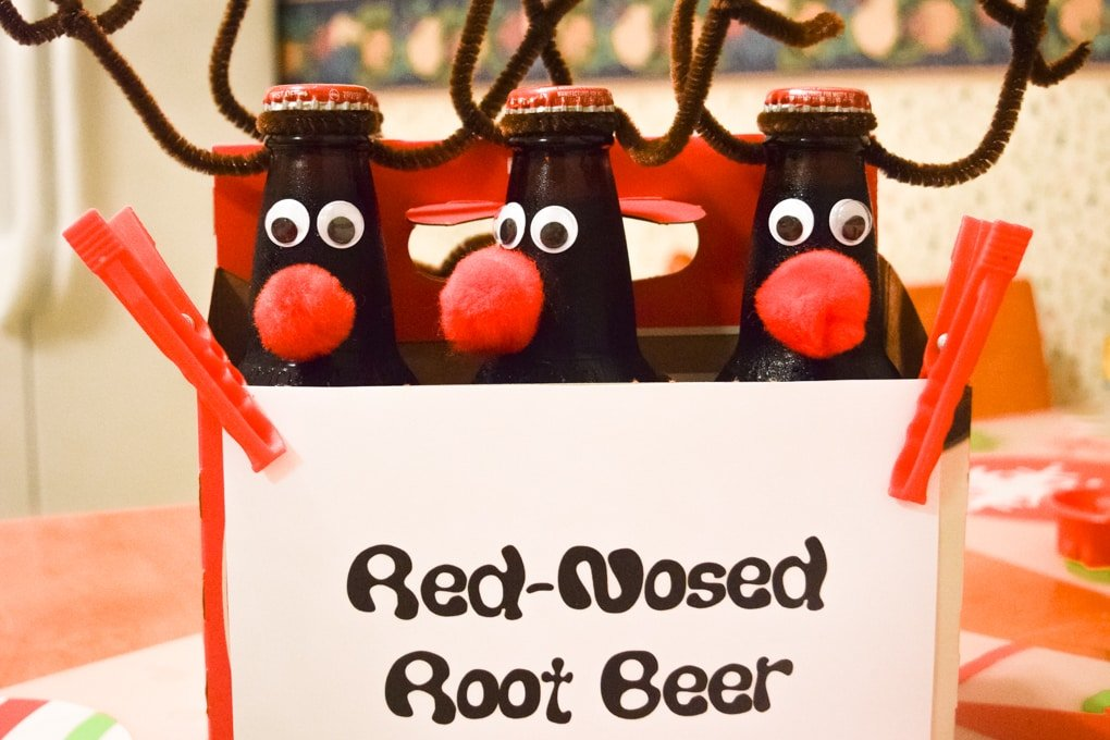 Rudolph - Red Nosed Root Beer - Gift Idea