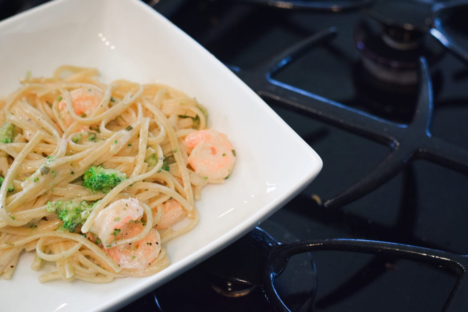Shrimp and Broccoli Pasta Recipe by This Little Home of Mine