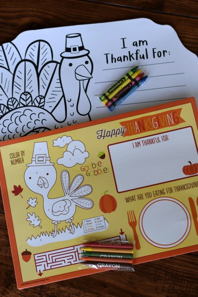 Thanksgiving Day Activities for Kids - Activity Placemats by This Little Home of Mine