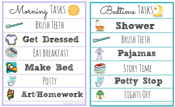 FREE Morning and Bedtime Routine Printable Lists by This Little Home of Mine