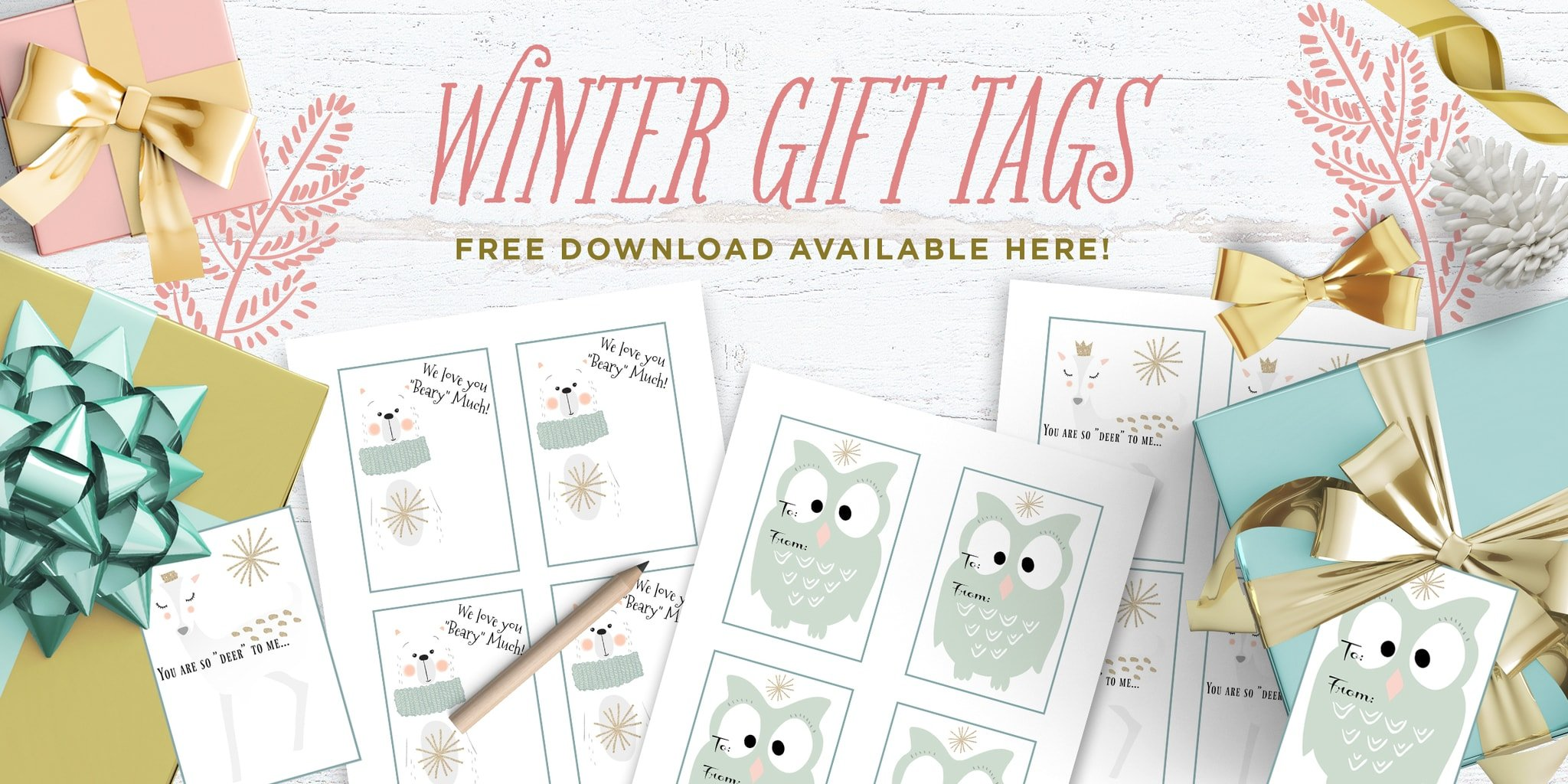Free Winter Gift Tags This Little Home of Mine