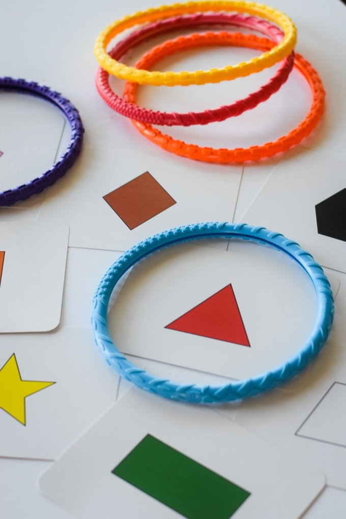 Math Games: Diving Rings Around the Shapes by This Little Home of Mine