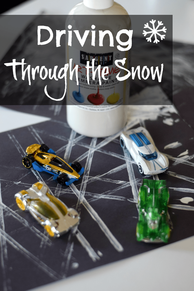 Hot Wheels: Driving Through the Snow