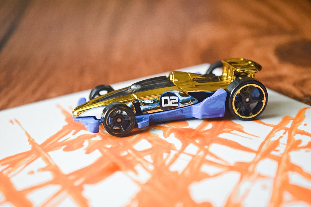 Painting with Hot Wheels Cars - Activity Idea