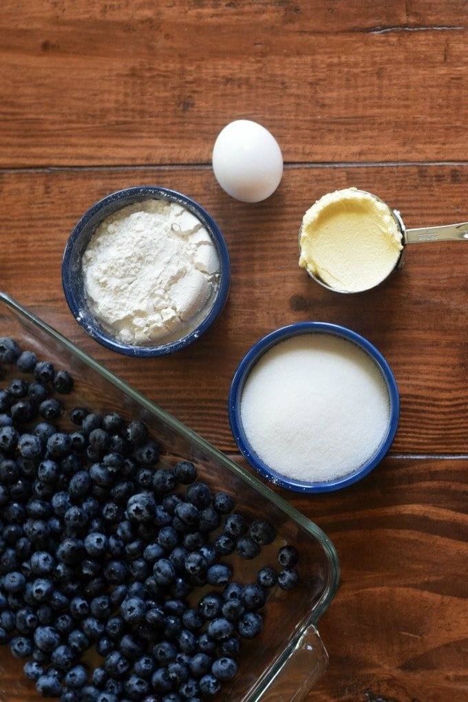 World's Easiest Blueberry Cobbler by This Little Home of Mine