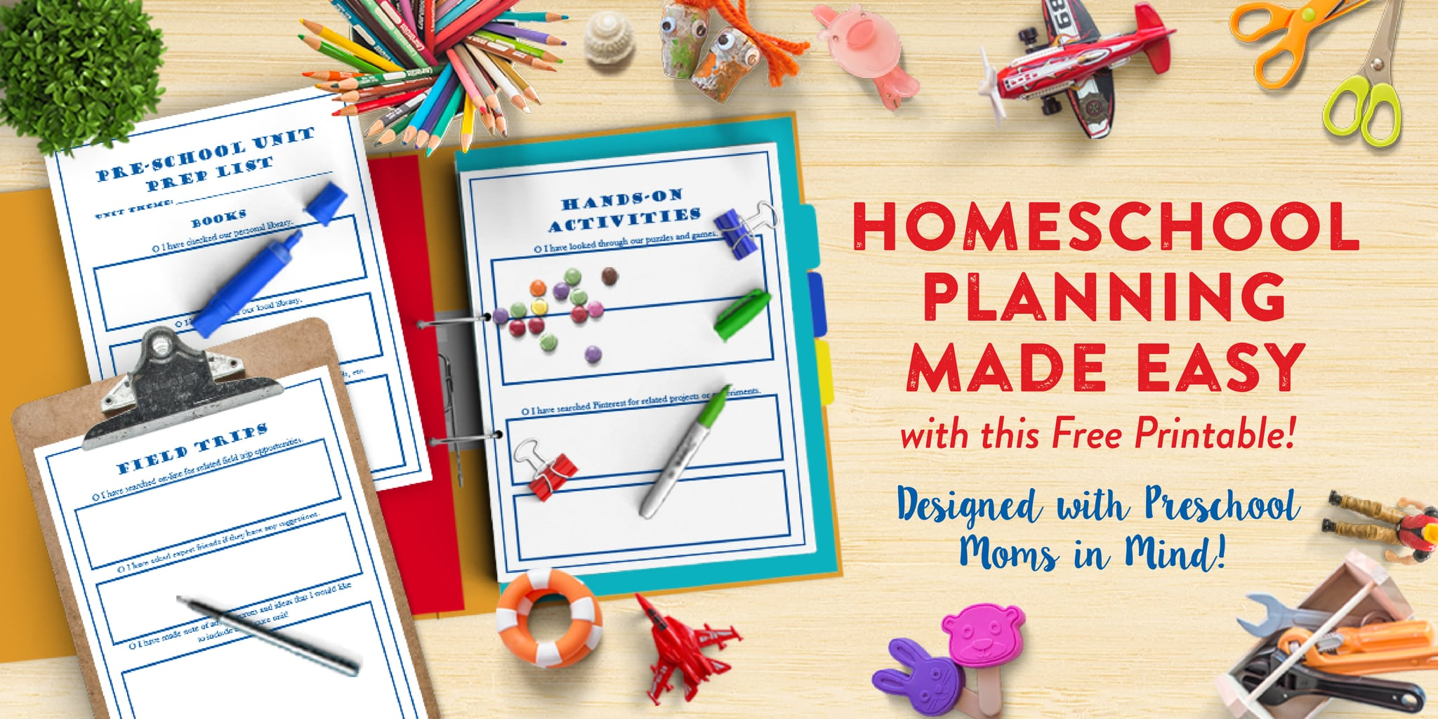 Homeschool Preschool Unit Planning Prep Pack by This Little Home of Mine
