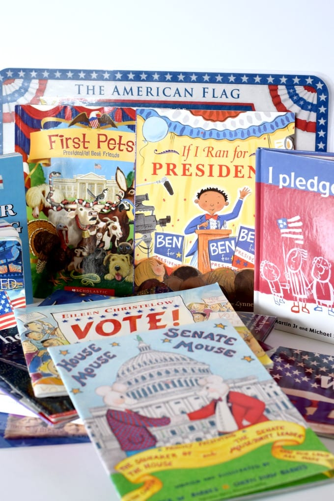 Red, White, and Blue Patriotic Activities - Kid's Books by This Little Home of Mine