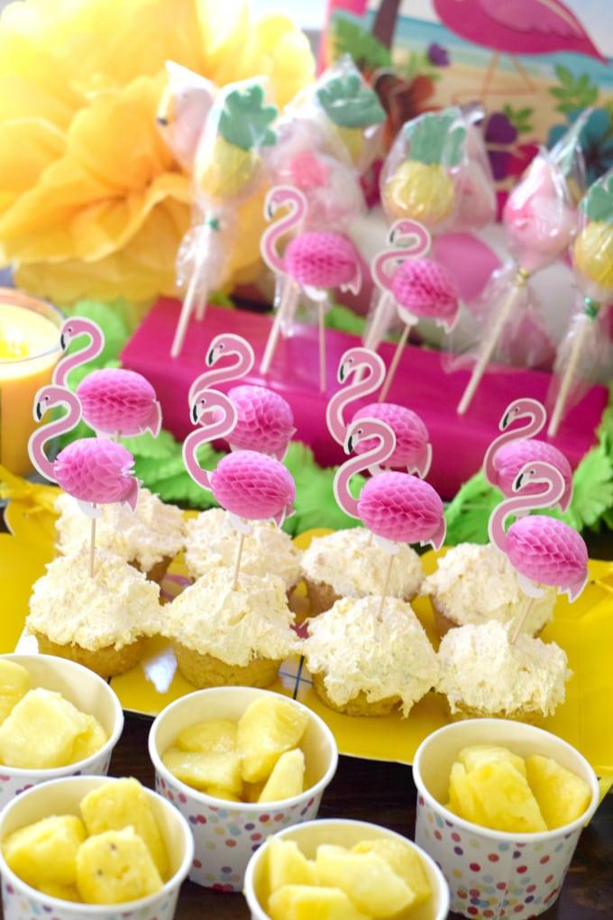 Birthday Party: Flamingos & Pineapples