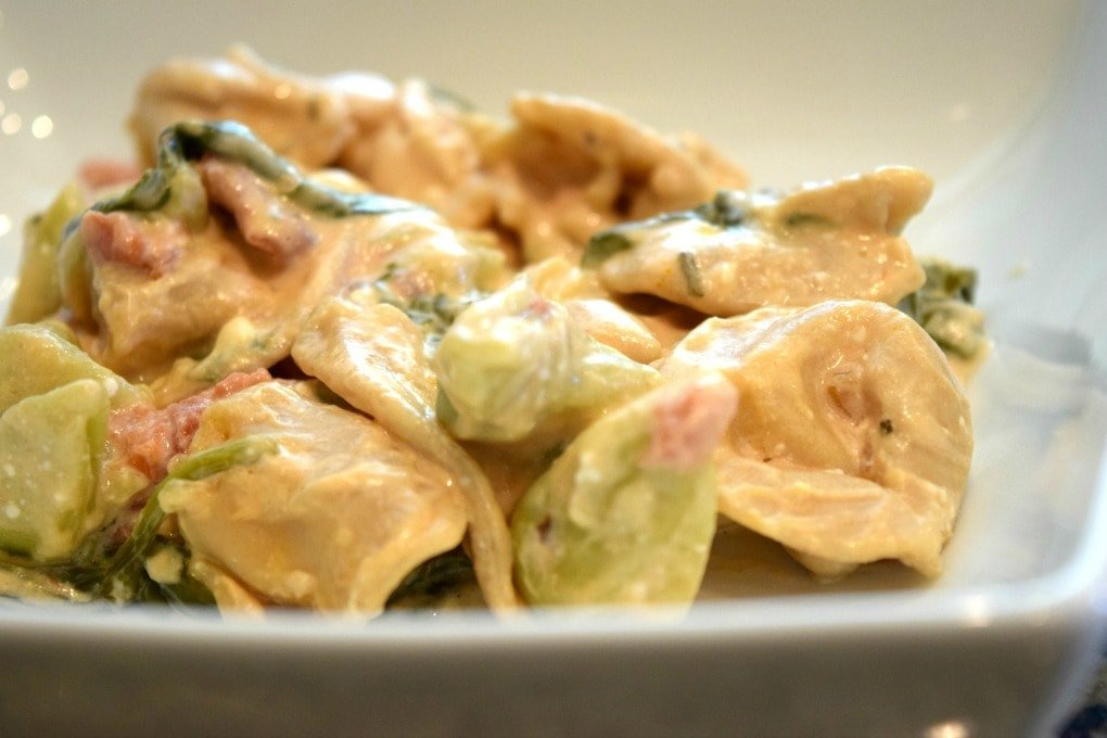 Crock Pot Creamy Tortellini Recipe by This Little Home of Mine
