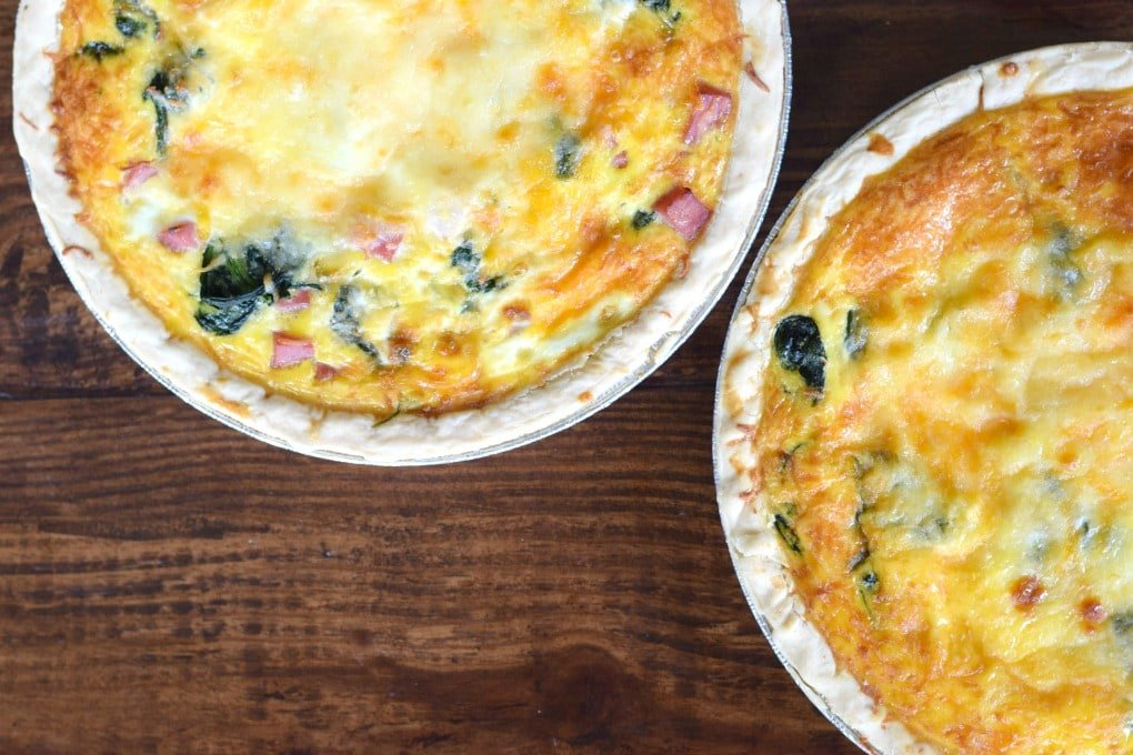 Ham and Spinach Quiche by This Little Home of Mine