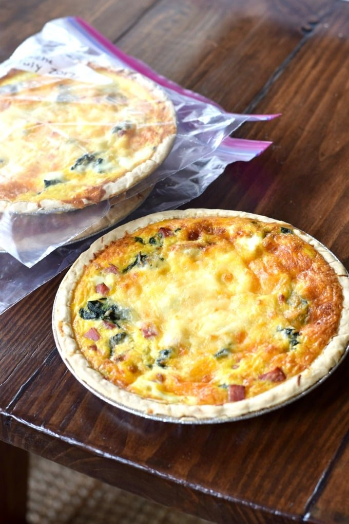 Ham and Spinach Quiche - Freezer Meal by This Little Home of Mine