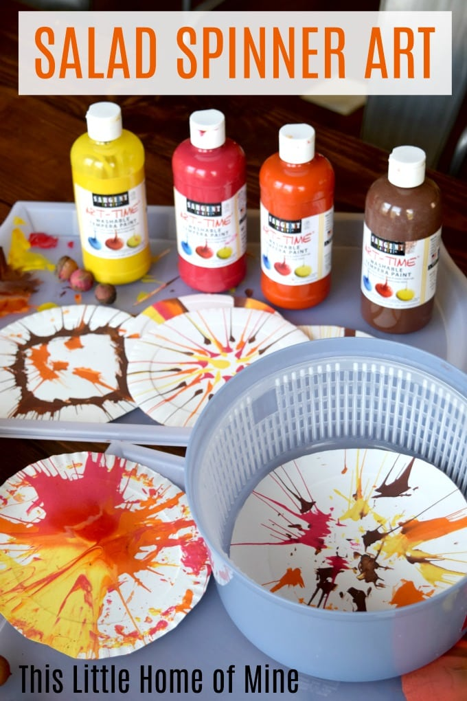Salad Spinner Paint Art Activity