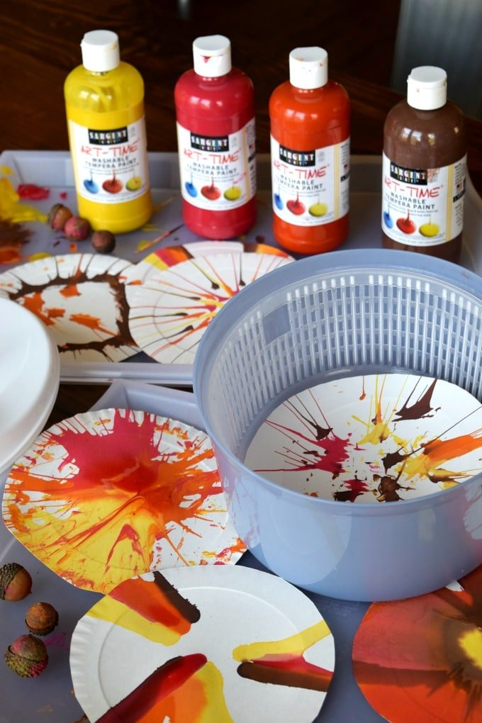 Salad Spinner Paint Art by This Little Home of Mine