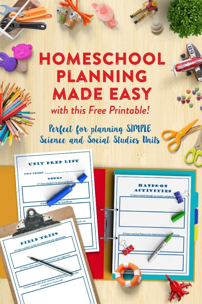 Unit Planning Packet for Homeschoolers by This Little Home of Mine