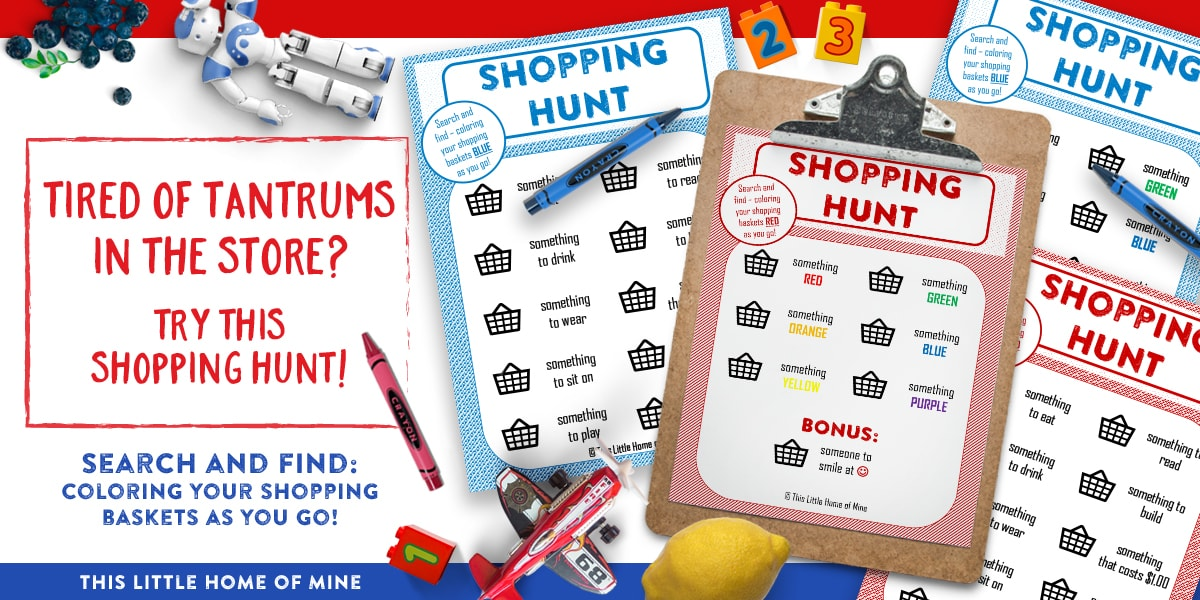 Shopping Hunt: Search-and Find while you shop! by This Little Home of Mine