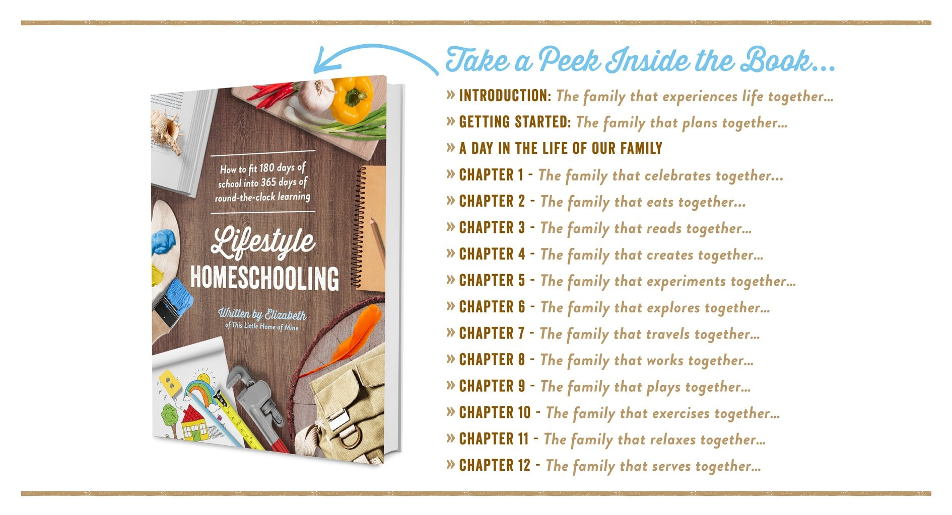 Lifestyle Homeschooling eBook - Take a Peek Inside - This Little Home of Mine