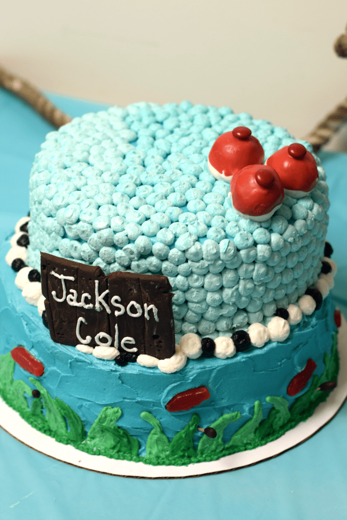 Fishing-Themed Baby Shower - Cake - This Little Home of Mine