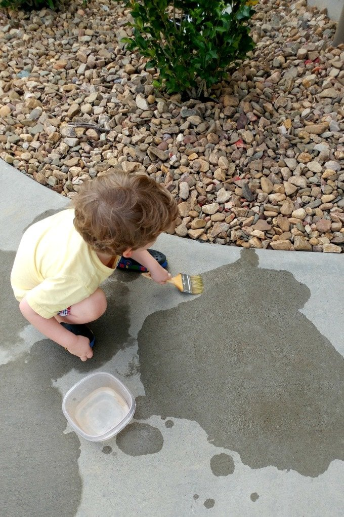 Painting with Water - Kids Activity by This Little Home of Mine