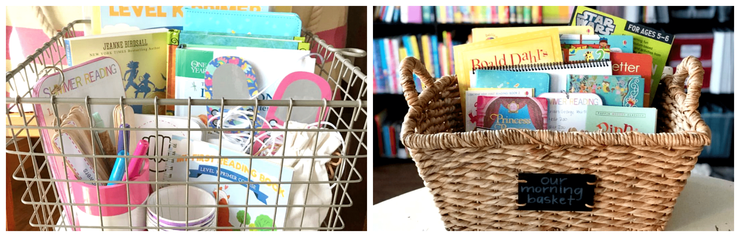 Summer Reading: Bitty Beginnings and Let's Play School - Featured on This Little Home of Mine