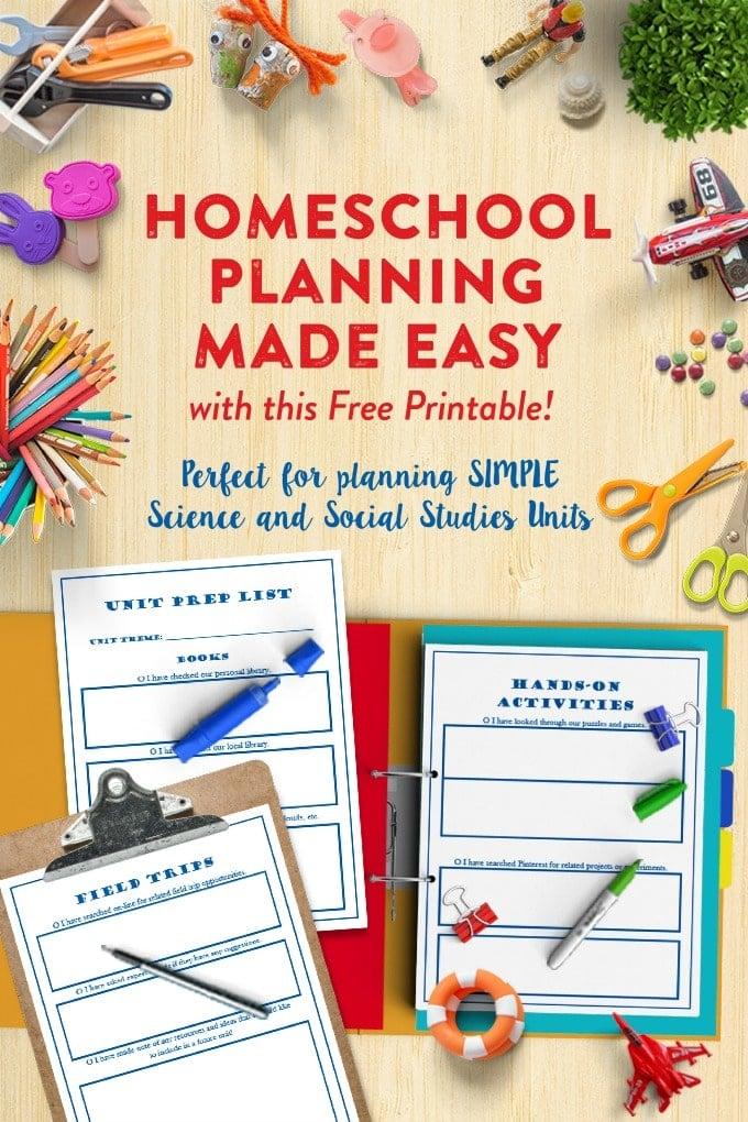 Plan Homeschool Preschool Units (without spending any money!)