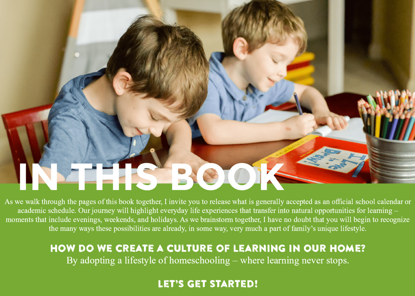 Lifestyle Homeschooling eBook - This Little Home of Mine