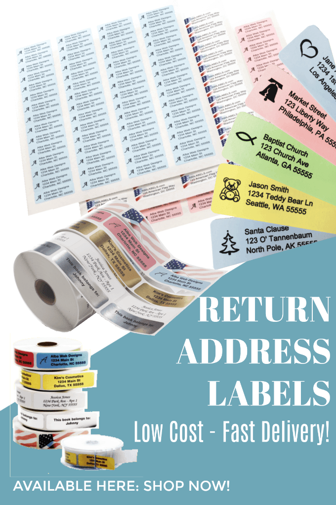 Discount Return Address Labels - 500labels.com