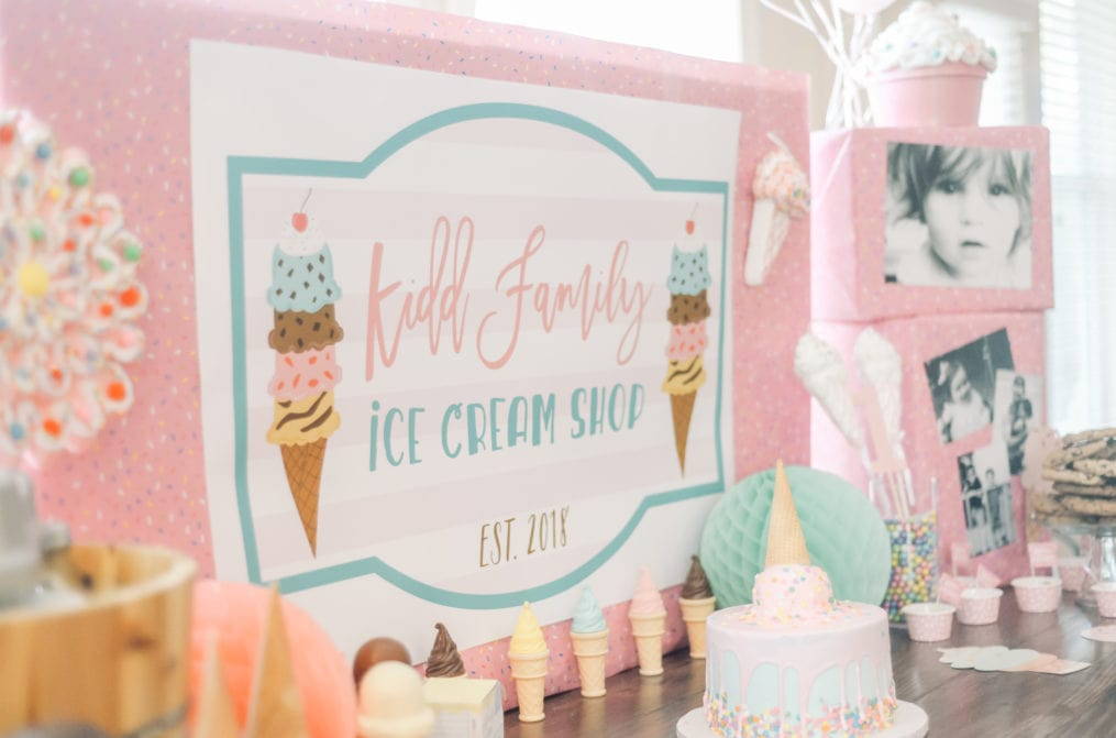 Ice Cream Themed Birthday Party for Kids by This Little Home of Mine
