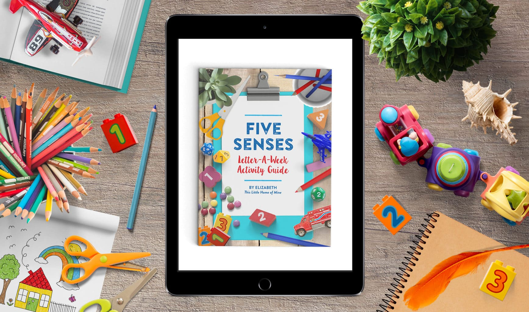 Five Senses Activity Guide for Letter-a-Week by This Little Home of Mine