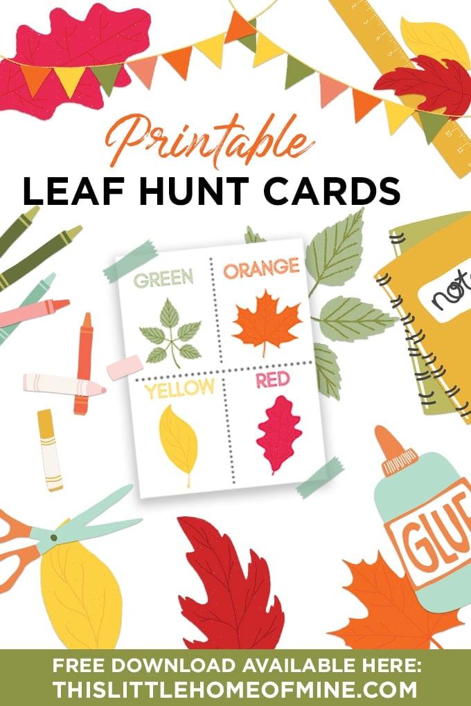 Fall Leaf Hunt Cards - Free Printable