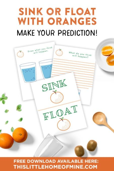 Science Experiment Sink or Float with Orange