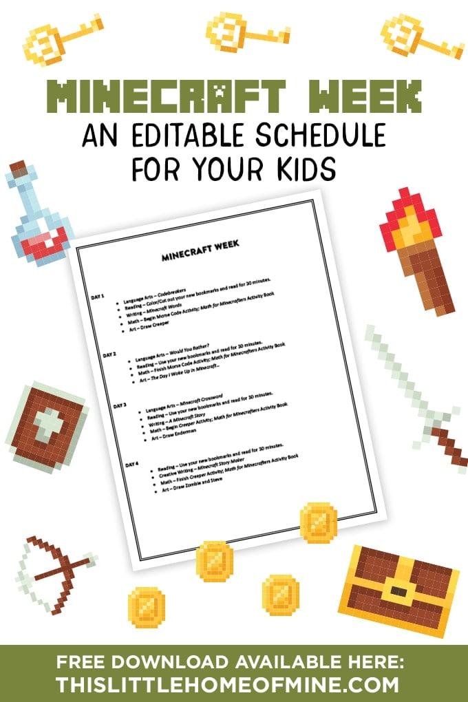 Homeschooling Minecraft Week